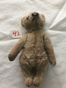"Vintage SCHUCO PICCOLO Miniature 5 1/4"" Mohair Jointed Teddy Bear #42"