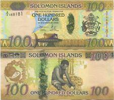 Solomon Islands 100 Dollars 2015 UNC, P-36, Hybrid, New design
