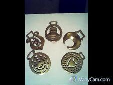 """Five Vintage Horse Brasses including """"Windsor Castle."""""""