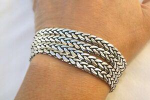 ALTERED Brighton Multiple Flat Silver Chain Bracelet