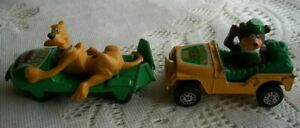 Vintage Diecast Cars Corgi Yogi Bear Jeep Scooby-Doo Mystery Ghost Chaser