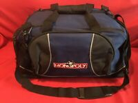 RARE! Monopoly Nylon Travel Carry On Tote Duffle Overnight Shoulder Bag Luggage