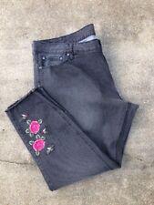 Women's TRUE CRAFT Ankle Skinny BLACK Jeans 24 Regular * NWT * (HC)