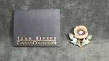 Joan Rivers Jewelery Brown Green Flower Pin Pendant Brooch C11