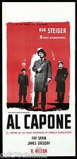 AL CAPONE ROD STEIGER LOCANDINA CINEMA MAFIA GANGSTER 1959 PLAYBILL POSTER