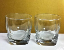 Plain clear set of two drink cocktail glass glasses glassware barware MY5