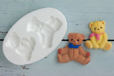 Moule silicone, nounours, ours, baby shower, ellam Sugarcraft M037