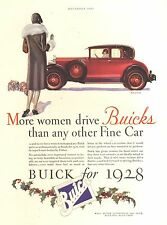 1928 BUICK COUPE RED  ORIG VINTAGE  CAR  AD
