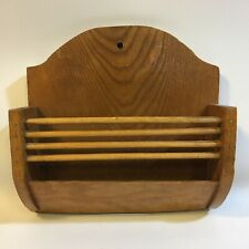 Vintage Letter Rack Wall Mounted Solid Wood