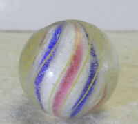 #12649m Vintage German Handmade Sold Core Swirl Marble .74 Inches