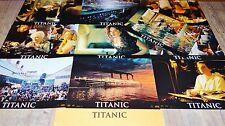 TITANIC ! dicaprio j cameron RARE jeu 10 photos cinema lobby cards fantastique