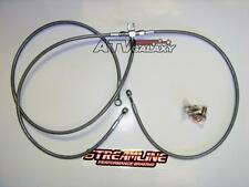 "Streamline +2"" Braided Front Brake Lines Yamaha Raptor 700 & 660 Clear 700R 660R"