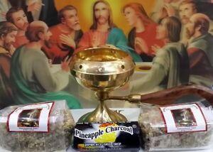 92 Jerusalem Natura FrankIncense resin incense+Brass burner ,100g each+Charcoal