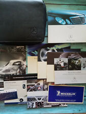 2008 MERCEDES-BENZ E-CLASS OWNERS MANUAL KIT with CASE & FOLDER FREE SHIPPING