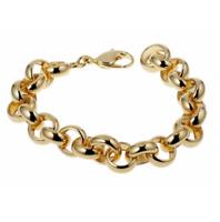 Bracelet Maille Jaseron Large Plaqué Or 18 carats NEUF Bijoux Femme