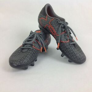 Under Armour Clutch Force 2.0 FG Gray Orange Soccer Cleats Size 9
