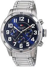 Fashion Reloj Plata Steel Silver Case Man Watch Crystal Hombre Pulsera Hand Blue