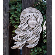 "18"" Hair of Leaves Greek Goddess Laurel Poetic Greenman Woman Wall Sculpture"