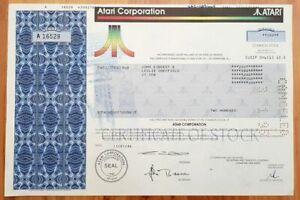 NICE ATARI STOCK w MINOR IMPERFECTION (Pen Mark, Mach Stamp or Folds) Reg. $150!