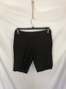 Ann Taylor Loft Womens Petite Size 4P Brown Lined Chino Shorts