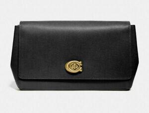 Coach Small alexa turnlock Leather clutch ~NWT~ Black 68328