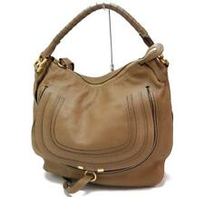 Auth Chloe Marcie Hobo Large Shoulder Hand Bag Leather Brown 1128a