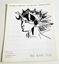 Partition vintage sheet music CLAUDE NOUGARO : Bleu Blanc Blues * 80's