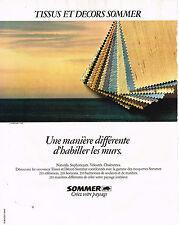 PUBLICITE ADVERTISING 054  1980  SOMMER   tissus & décor des murs