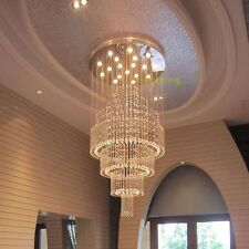 Modern Contemporary Crystal Pendant Lamp Ceiling Lighting Rain Drops Chandelier