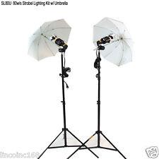 80w/s Studio Lighting Strobe Flash Light Kit w/ Umbrella Britek Lighting Kit