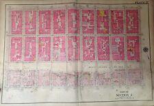 1907 LOWER EAST SIDE WILLIAMSBURG BRIDGE P.S. 4,174 MANHATTAN NY PLAT ATLAS MAP
