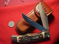 SCHRADE UNCLE HENRY 227UH LARGE 2 blade folding hunter STAGLON 6265