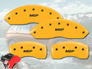 "2008-2014 Mercedes Benz C300 Front + Rear Yellow ""MGP"" Brake Disc Caliper Covers"