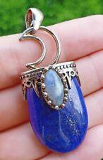 Lapis Lazuli Labradorite Stone Pendant Energy Reiki Healing Amulet