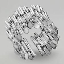 John Hardy Bamboo Cluster Flex Cuff Bracelet in Sterling Silver
