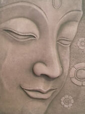 Face Of Buddha Sandstone Relief Sculpture. Beautiful Profile Pose. Excellent.