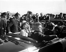 JOHN F. KENNEDY & JACKIE LEAVE LOVE FIELD NOVEMBER 22, 1963  8X10 PHOTO (OP-812)