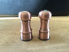 """Salt and Pepper Shakers Set Copper Colored 4.5"""" Tall"""