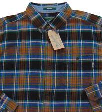 Men's WOOLRICH Black Brown Colors Plaid Flannel Cotton Shirt XXL 2XL NWT NEW