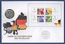 Maxi Numisbrief 50 J Bundesrepublik Deutschland Sonderblock Stempel 1999 NBA8/50