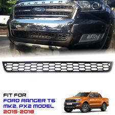 Matte Black Mesh Front Under Bumper Grille Ford Ranger T6 PX2 MK2 15 16 17 18