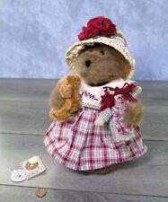 NEW Boyds Bears TRISSY TEABEARY TEDDY BEAR Tea For Three Longaberger Limited Ed!