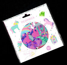 Q-lia Kawaii Picapirica Unicorn Castle Diamonds Rainbow Sticker Sack Japan