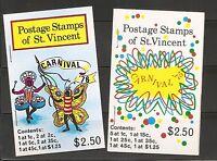 St Vincent Carnival 1975-1976.  Complete Booklets. MNH