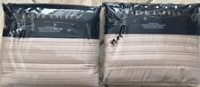 Ralph Lauren REED Euro Pillow Shams- Cape Tan(PAIR)-NIP-MSRP $290