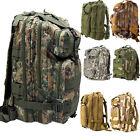 30L Hiking Camping Bag Army Military Tactical Trekking Rucksack Backpack Camo