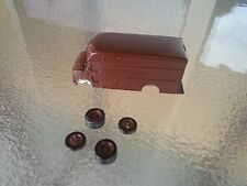 Parcel Delivery Truck HO Scale 1:87 Unfinished Model Train Detail Accessory