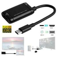 1080P Type C to HDMI Cable Converter USB-C Adapter Tablet USB3.1 For Phone Z9Y4