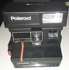 NICE Polaroid Red Stripe One Step Flash Instant Camera w/ Carrying Case Works.