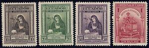 1946 Ecuador SC# 471-474 - 300th Anniv. of the Death of Mariana de Jesus - M-H